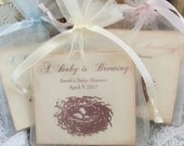 Nest Baby Shower Favors Tea Bags Favors Bird Eggs Baby is Brewing Set of 10