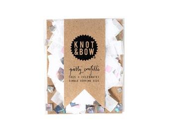 White Iridescent Confetti Single Serving Size™ / Party Confetti