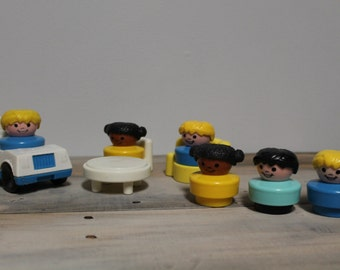 Lot of Fisher Price Chunky Little People and Accessories