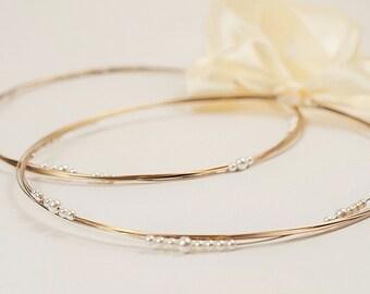 STEFANA Wedding Crowns - Orthodox Stefana - Bridal Crowns Silver Gold GHEA - One Pair