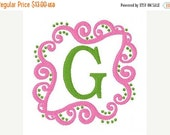 SALE INSTANT DOWNLOAD Swirly Girlie Classic Machine Embroidery Monogram Design Set