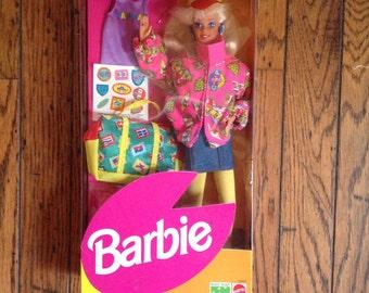 Vintage Barbie Naf Naf Travel in Box