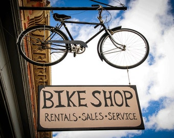Bike Photography , Bike Print , Bike Art , Boulder Colorado , Bike Sign, Bike Shop Sign, Colorado ,