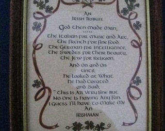 An Irish Tribute Art Print-Vintage Farmhouse-Shabby Chic-Celtic-Irishman-Fathers Day Gift-Birthday Gift--#ER
