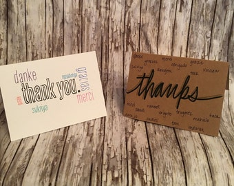 Many Ways to Say Thanks 2-pack thank you card stationery set—Ready to ship!