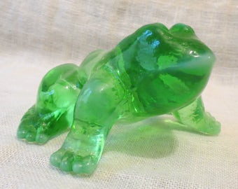Frog Green Glass 3D