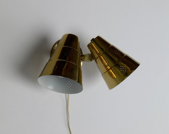 Vintage Mid Century Modern 3-Way Wall Lamp/Sconce
