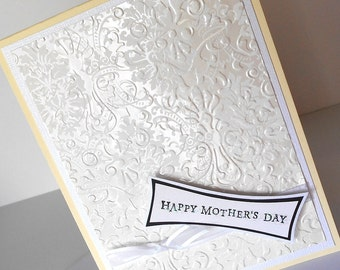 Mothers Day Greeting Cards:  Handmade Blank Note Card - Granny's Hanky