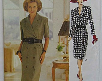 Misses' Easy Dress Vogue 8633 Sewing Pattern UNCUT Sizes 18, 20, 22