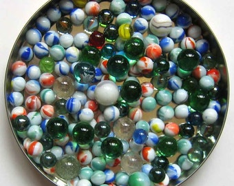 Marble Assortment Lot - Over 175 Marbles Includes No. 36 Clefable Pokemon, Craft Supplies, Swirl