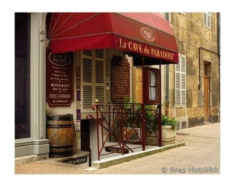 "Fine Art Color Travel Photography of French Wine Shop in Beaune France - ""Cave du Paradoxe"""