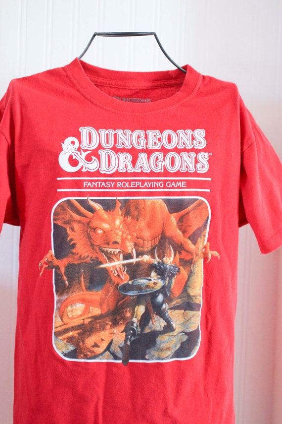Dungeons And Dragons Vintage Tshirt D Amp D T Shirt Red Dragon