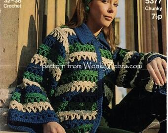 Vintage Crochet crocheting crocheted Mini Coat Pattern PDF 751 from WonkyZebra
