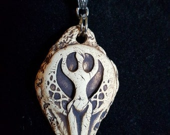 Triple Goddess Essential Oil Diffuser Pendant Mother ~ Maiden ~ Crone Pagan Wicca