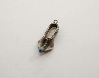 Vintage 800 Silver Persian Slipper Charm