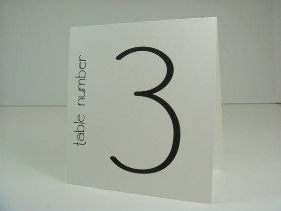 Wedding Table Number Tented Bistro Design in Colors to Coordinate with your Wedding Reception Decor
