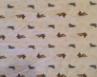 A Wonderful Soft Disney Sweet Dreams LIttle Bambi With Thumper Cotton Flannel Fabric By The Yard Free US Shipping