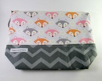 Foxy Zipper Project Bag