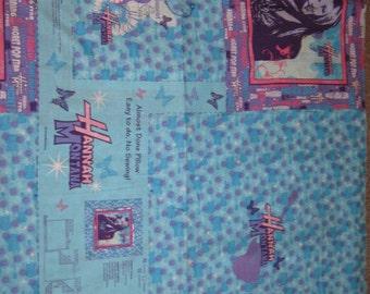 1 Yard (1 Panel) HANNAH MONTANA Cotton Fabric Pillow Panel