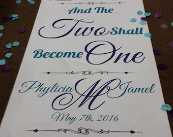 "Wedding Aisle Floor Runner Custom made to order to say anything 30"" Wide Beautiful"