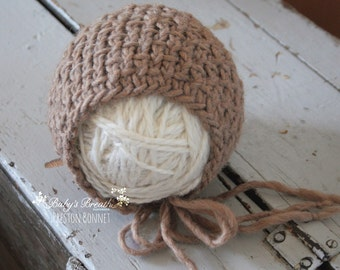 Preston Bonnet - Knit Newborn Bonnet - Newborn Photography Prop