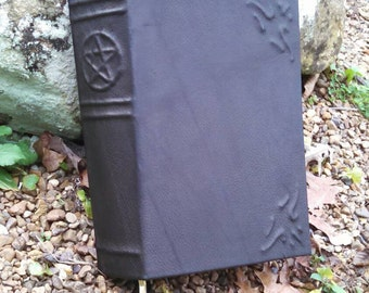 Book of Shadows Pentacle Spine Leather