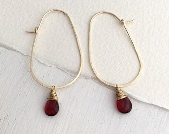 Ruby Quartz Egg Hoops