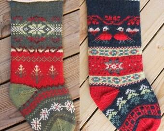 Two Christmas Stocking Kits:  Tannenbaum & Turtledove