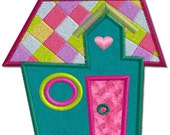 Country House 3 Applique Machine Embroidery Design Pattern-INSTANT DOWNLOAD