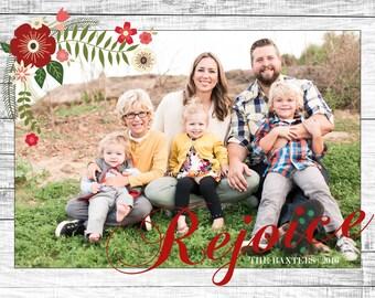 Rejoice - Custom Photo Christmas Card