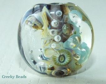 Handmade Lampwork Focal bead 'Under The  Ocean' Creeky Beads SRA