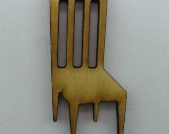 Wood Brooch - Chair - BRO078
