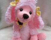 JULY SALE Crochet Pattern Poodle Dog by Teri Crews instant download PDF format