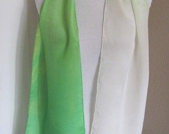 "Anne Klein // Lovely Pale Green Silk Scarf // 10"" x 54"" Long"