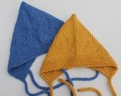 Instant Download Chevron Baby Bonnet PDF Pattern. Knitting Baby Pattern. Pixie Baby Hat Pattern. Chevron Baby Hat Pattern. Knit for Baby,