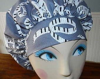 Let there be Music  Banded Bouffant Surgical Cap