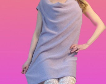 Lavender cowl neck spring dress