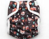 One Size Eco-PUL Cloth Diaper Cover Fox