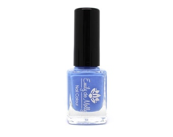 """Stamping polish - """"Powder Blue"""" light periwinkle / blue stamping polish"""