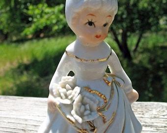 Sweet Little July Birthday Girl Figurine  Circa 1950s