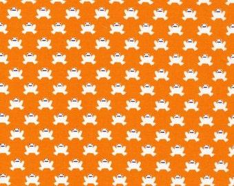 1 yard of Hopping Along - Orange by Cloud 9 Fabrics