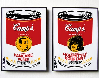 Pee Wee Herman Miss Yvonne framed Pop Art Soup set by Zteven