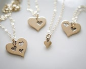 Mother Daughter Necklace Set by Betsy Farmer Designs - Available in Bronze or Sterling Silver - Valentine Gift