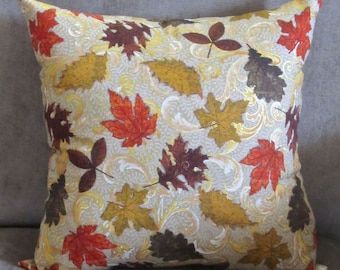Fall Pillow Cover, Autumn Pillow, Fall Pillow, Pillows for Fall, Fall Decor, Autumn Decor, Designer Pillow, Autumn Leaves Pillow