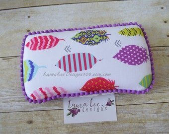 READY TO SHIP, Bright Feathers Travel Baby Wipe Case, Diaper Wipes Case, Personalized Wipecase, Wipe Holder, Wipe Clutch, Baby Shower Gift