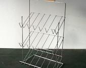 RESERVED for franny fran / Vintage Store Merchandising Wire Rack / LANCE / Metal Rack / Storage Organization / Table Top Display Rack
