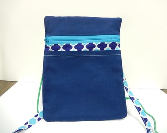 Small Zipper Shoulder Bag with Outside Front Pocket