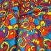 Vintage Fabric Mod Groovy Psychedelic Print yardage