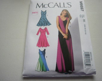 Pattern Ladies Dress 4 Styles Sizes 6 to 14 McCalls 6697