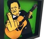 Johnny Cash Print 3D Art Memphis Country Music 3D Pop Art Johnny Cash Poster